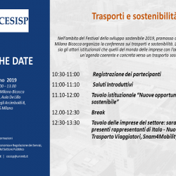 SAVE THE DATE - trasporti e sostenibità 3 giugno