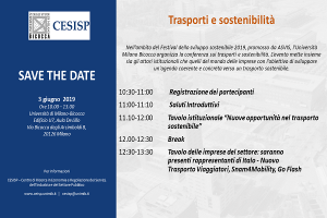 SAVE THE DATE – transport and sustainability