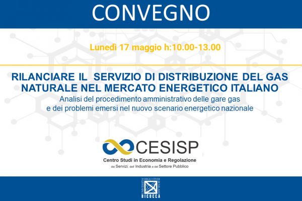 Relaunching the natural gas distribution service in the Italian energy market